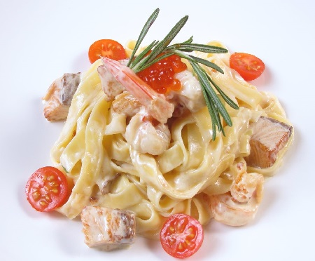 фетучини с лососем в сливочном соусе рецепт