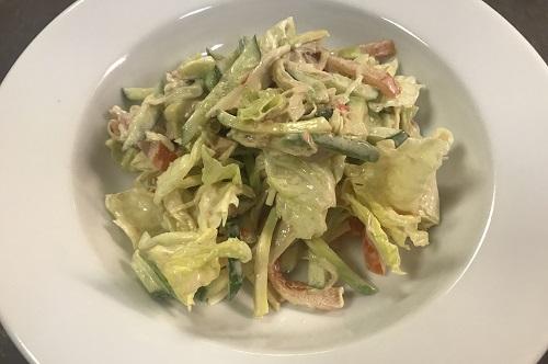 салат с авокадо и снежным крабом рецепт