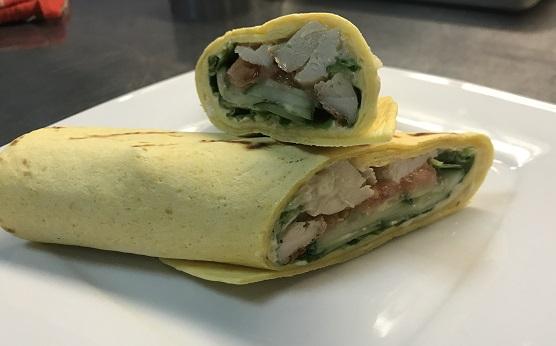 тортилья с курицей и овощами рецепт