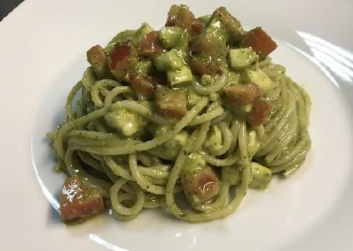 спагетти с соусом песто рецепт