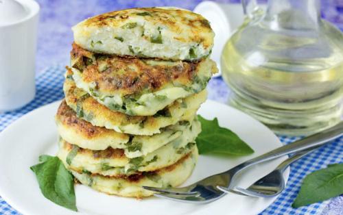 сырники со шпинатом