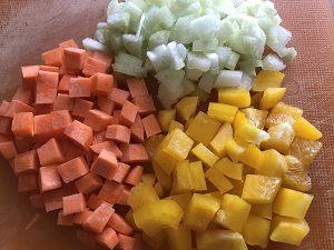 нарезка овощей для овощного рагу