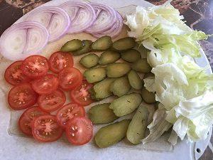 овощи для бургера