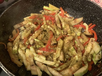 готовим бурый рис с овощами