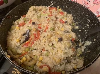 бурый рис с овощами рецепт