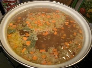 рыбный суп с пшеном и картошкой