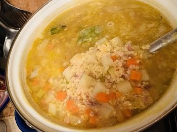 суп из рыбных консервов с пшеном рецепт