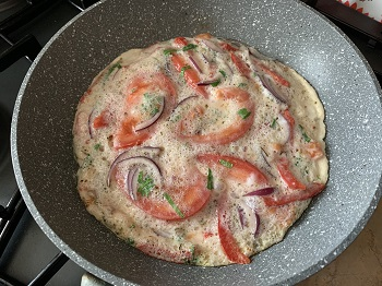 белковый омлет с овощами рецепт
