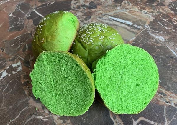 зеленые булочки для бургеров рецепт с фото