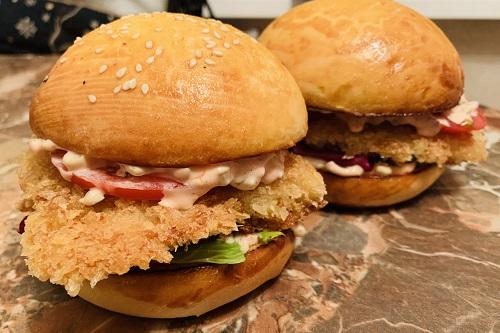 бургер с хрустящей треской пошаговый рецепт с фото