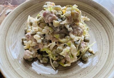 салат огурец яйцо консервы рыбные