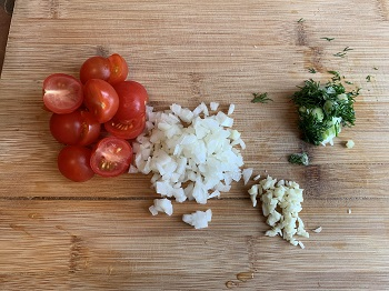 нарезка овощей для итальянских спагетти