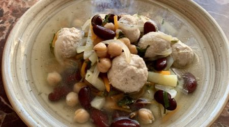 суп с бобовыми и куриными фрикадельками пошаговый фото рецепт